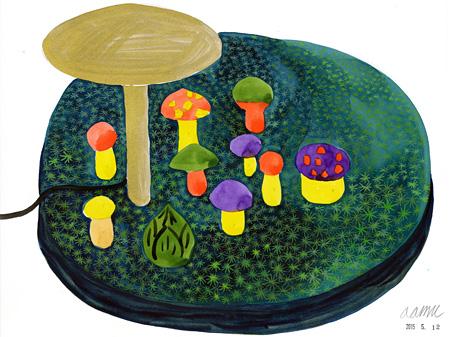 『キノコのランプのためのドローイング』©COMPANY
