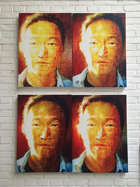 XIA Xing『Kenji Goto』2015、キャンバスに油彩、各 75×50cm © XIA Xing Courtesy the artist and Mizuma Art Gallery