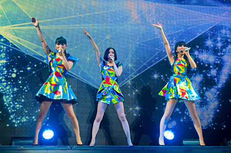"""『WE ARE Perfume -WORLD TOUR 3rd DOCUMENT』 ©2015""""WE ARE Perfume""""Film Partners."""