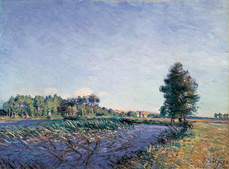 『葦の川辺─夕日』1890年 油彩、カンヴァス 茨城県近代美術館