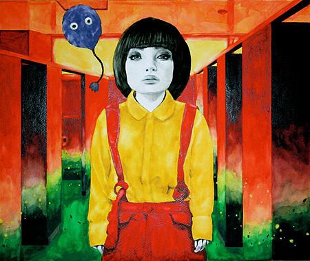 笹山直規『トイレの花子さん』2014 モンバル紙に鉛筆・透明水彩 455×380mm