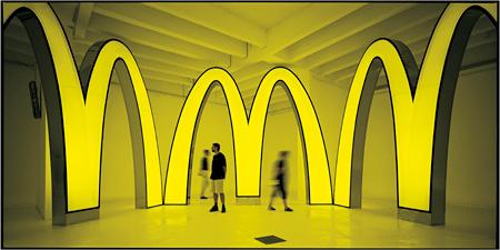 第49回ヴェネチアビエンナーレ・中村政人『QSC+mV/V.V』2001年 ヴェニス ©McDonald's Corporation ©Masato Nakamura