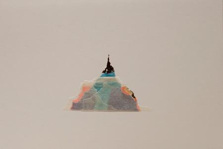 狩野哲郎『あたらしい植物』 2014 年 マスキングテープ・シール・色鉛筆、紙 作家蔵 ©Tetsuro Kano, Courtesy Yuka Tsuruno Gallery
