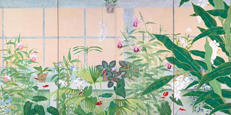 小茂田青樹『薫房』 1927 年 紙本着色 福島県立美術館