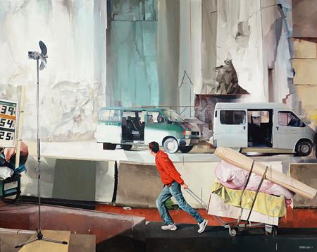 『A l'est, rien de nouveau』2014年 Oil on canvas 162×130cm