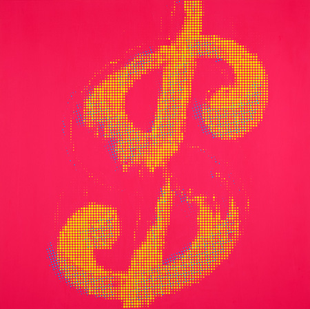 Dollar (MADE IN TOKYO), acrylic on canvas, 1000x1000mm, 2015