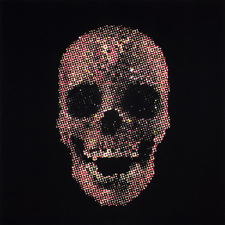 Skull (MADE IN TOKYO), acrylic on canvas, 1000x1000mm, 2015