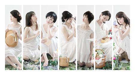 左から安藤瞳、宮山知衣、渋谷はるか、尾身美詞、小暮智美、吉田久美、保亜美
