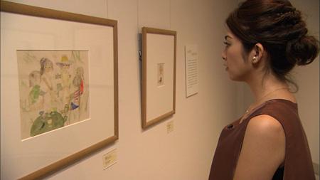 ちひろ美術館東京を訪れた田中麗奈『日曜美術館』より(画像提供:NHK)