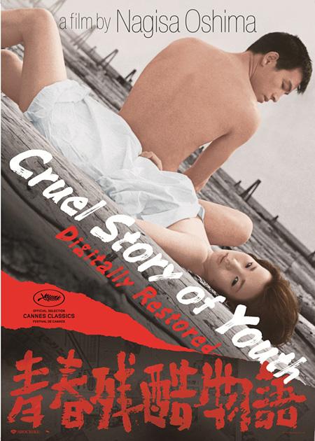 『青春残酷物語』海外版ポスター ©1960/2014松竹株式会社