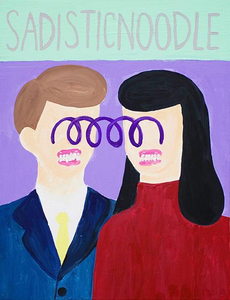 とんだ林蘭『SADISTIC NOODLE』2015年 アクリル、キャンバス