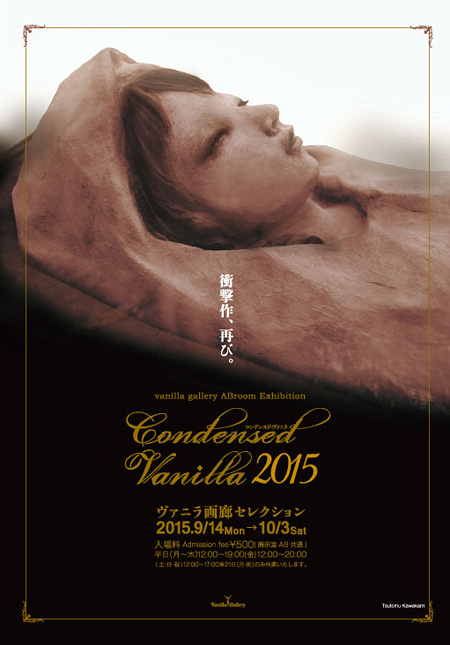 『CONDENSED VANILLA 2015 ヴァニラ画廊セレクション』チラシビジュアル