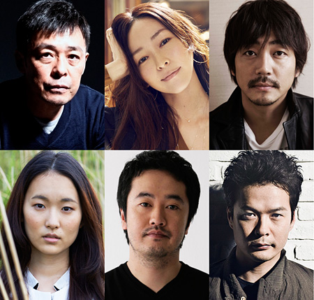 左上から時計回りに光石研、麻生久美子、大森南朋、田中哲司、赤堀雅秋、木下あかり