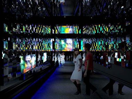 「クラゲ万華鏡トンネル」夜バージョン イメージビジュアル