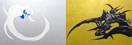 天野喜孝『Wind and Thunder Gods 3』2015 キャンバスにアクリル 各197×291cm ©AMANO Yoshitaka, Courtesy Mizuma Art Galley