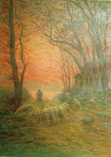 アンリ・デュエム『羊飼いと羊の帰還』制作年不詳 油彩/キャンヴァス 134×98cm Douai, musée de la Chartreuse photo ©Collection Musée de la Chartreuse -Douai