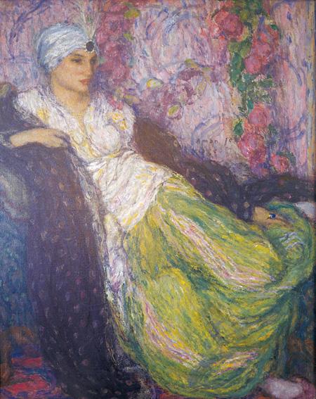 エドモン・アマン=ジャン『囚われの女』1913年 油彩/キャンヴァス 116×91cm 個人蔵 photo ©Yves Le Sidaner