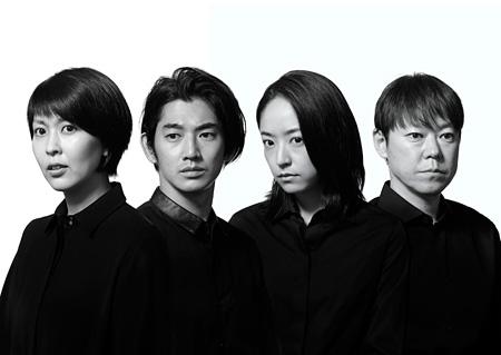 左から松たか子、瑛太、井上真央、阿部サダヲ