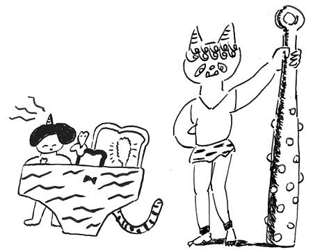 ワワフラミンゴ『野ばら』メインビジュアル イラスト:うえのよう(左)、死後くん(右)