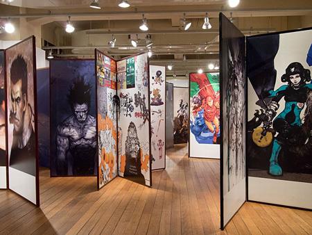 2013年に京都国際マンガミュージアムで開催された『寺田克也 ココ10年展』の会場風景