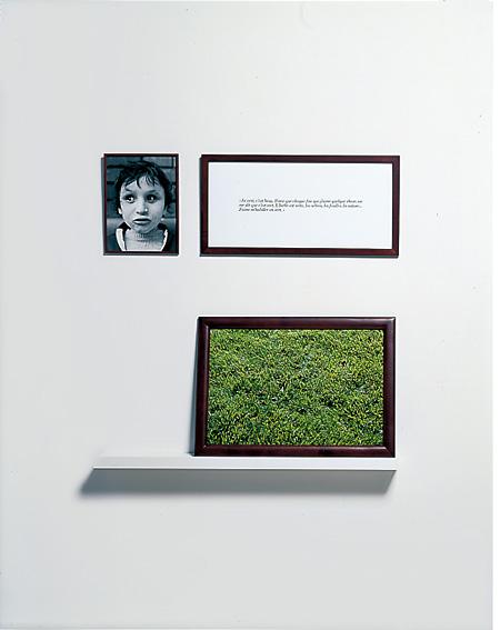 『盲目の人々−no.4』1986年、カラー写真、テキスト、額 ©Sophie Calle / ADAGP, Paris 2015, Courtesy Gallery Koyanagi; Galerie  Perrotin Photo: André Morin