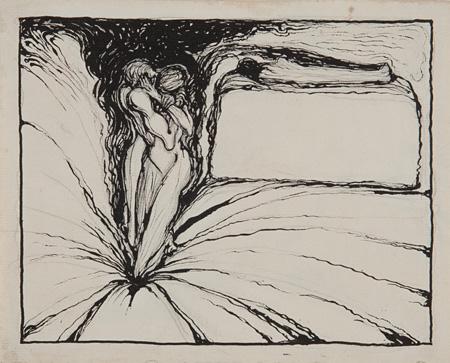 田中恭吉『死人とあとに残れるもの』1914年 和歌山県立近代美術館