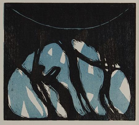 恩地孝四郎『つきにひくかげ』1914年 愛知県美術館