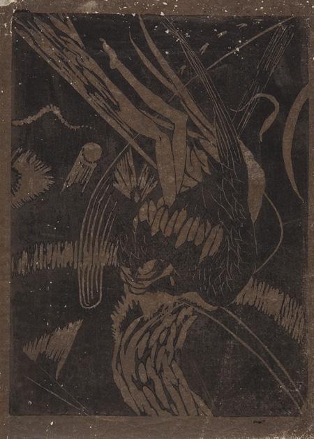 恩地孝四郎『失題』1914年頃 和歌山県立近代美術館