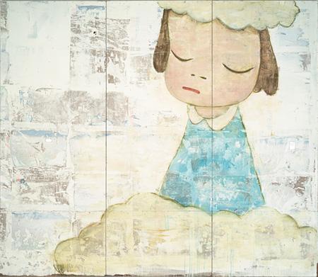 奈良美智『Untitled』1999 アクリル絵具、色鉛筆、プラスティック、板 ©NARA Yoshitomo, courtesy of the artist