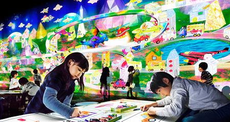 『チームラボアイランド -学ぶ!未来の遊園地-』イメージビジュアル