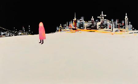 田中千智『天使エスメラルダ』 2013年 油彩、アクリル、キャンバス 80.3×130.3cm
