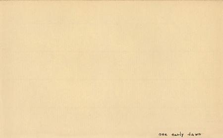 オノ・ヨーコ『見えない花』1952年、インク・パステル/紙、個人蔵 ©YOKO ONO 2015