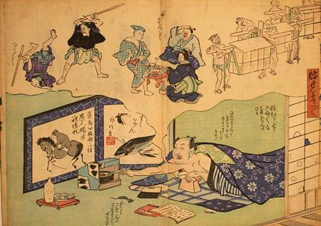 『浮世ハ夢だ夢だ』作者不詳 慶応期(1865~68) 所蔵:京都国際マンガミュージアム