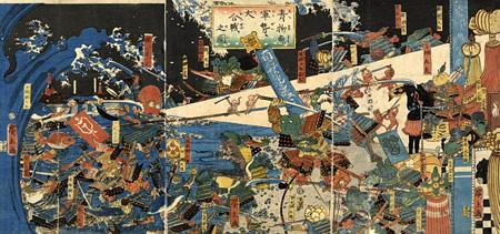『青物魚軍勢大合戦之図』歌川広景 安政6年(1859) 所蔵:京都国際マンガミュージアム