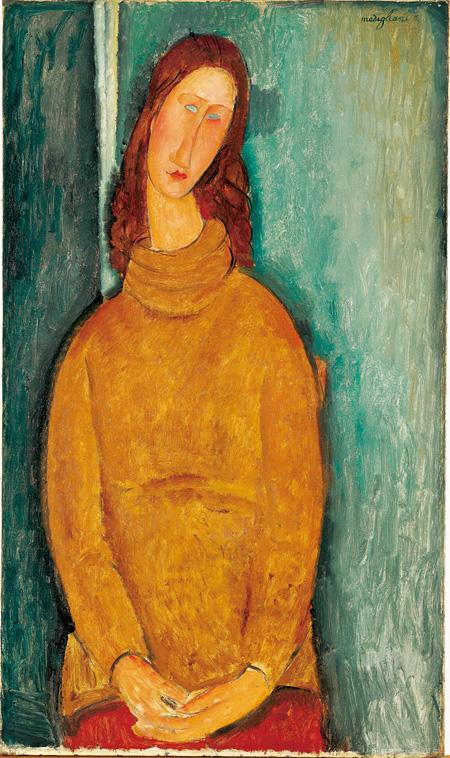 アメデオ・モディリアーニ『ジャンヌ・エビュテルヌの肖像』1919年 / 92.3 × 54.5 cm / 油彩・カンヴァス