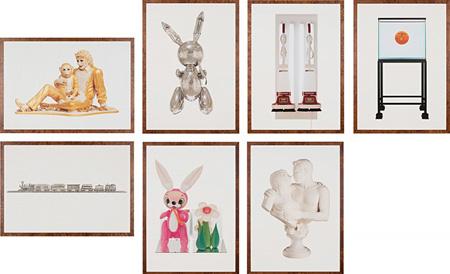 Lot.086 ジェフ・クーンズ『Untitled(Portfolio)』1993年 オフセットリトグラフ、7点組 99.6×69.7cm エスティメート:2,000,000 - 3,000,000円