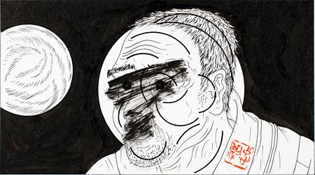 瀬戸内晴美『幻花』挿画 虚空(六)1974~75年 作家蔵