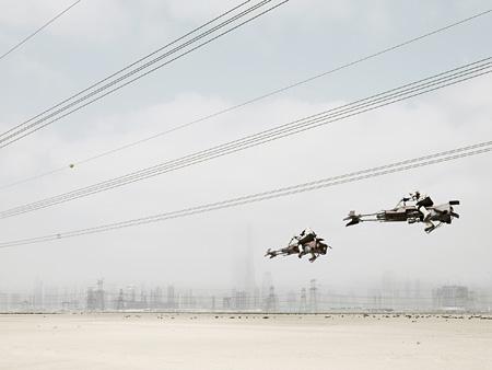Dark Lens, Two Speeder Bikes, Dubai, 2009 © Cédric Delsaux