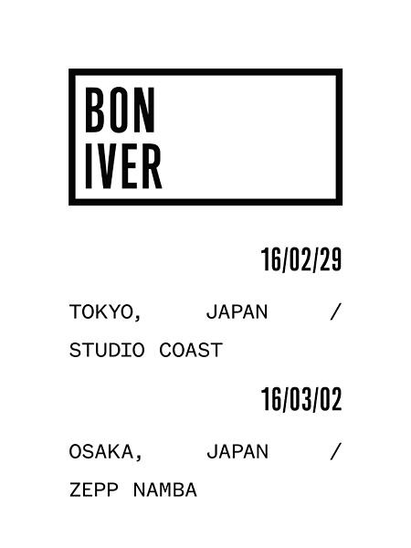 Bon Iver来日公演メインビジュアル