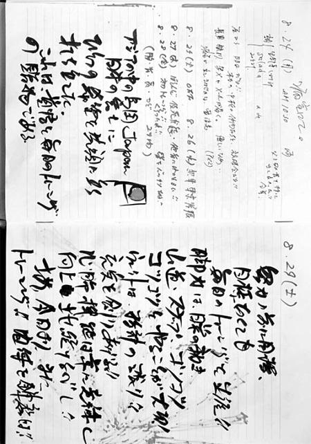 「長渕剛日記」(『KAWADE夢ムック 文藝別冊「長渕剛 民衆の怒りと祈りの歌」』29ページ)