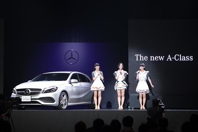 『メルセデス・ベンツ × Perfume 新型Aクラスプレス発表会』会場風景