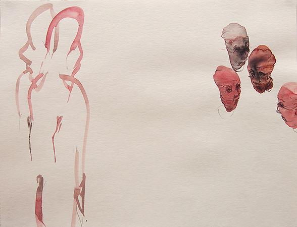川内理香子『I realized…』 2015, pencil, watercolor on paper, 410×320mm