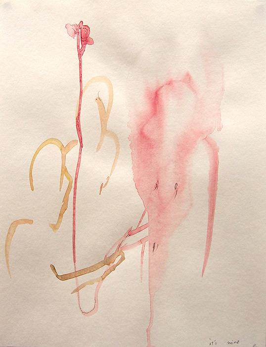 川内理香子『It's mine』 2015, pencil, watercolor on paper, 410×320mm