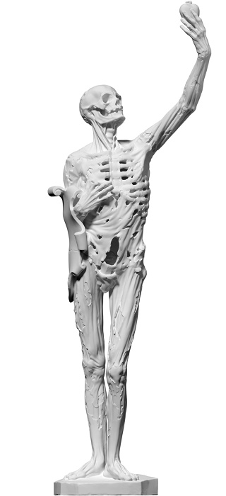 3D scan of a 1922 plaster cast of Transi de René de Chalon, 1545/1547 by Liguer Richier. Scanned in September 2015 at the Musée des Monuments Français with the Foundation Galeries Lafayette. Image courtesy of the artist and Tanya Leighton, Berlin