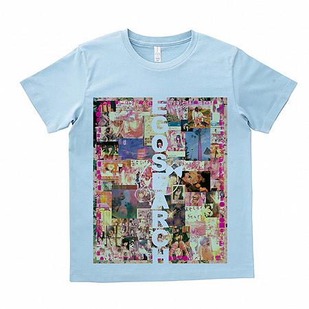 大森靖子『愛してる.com / 劇的JOY!ビフォーアフター』完全限定生産盤に付属するTシャツ(サックスブルー)イメージビジュアル