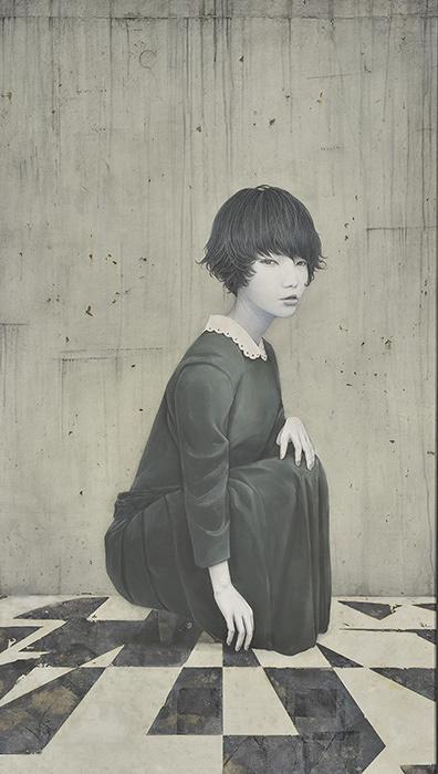 『FACE2014』グランプリ 川島優『Toxic』2013年墨・岩絵具・箔・麻紙 194×111cm