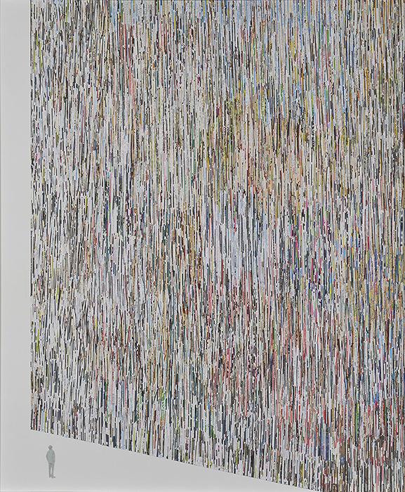 『FACE2015』グランプリ 宮里紘規『WALL』2014年 ミクストメディア 194×162cm