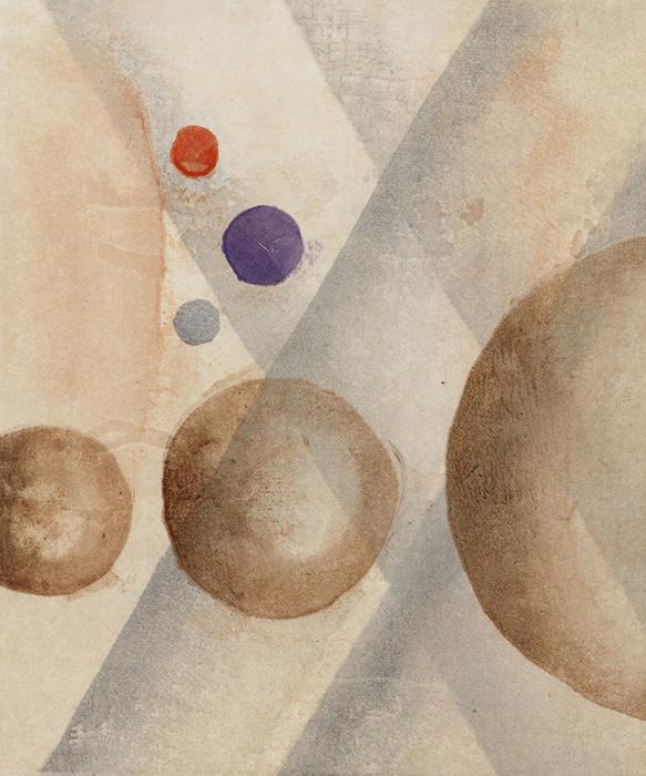 『音楽作品による抒情 No.4 山田耕筰「日本風な影絵」の内「おやすみ」』1933(1935)、木版・紙、ボストン美術館 Museum of Fine Arts, Boston, Gift of L. Aaron Lebowich, 49.737