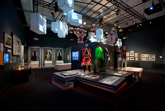 Installation Shot of David Bowie is at the V&A is courtesy David Bowie Archive ©Victoria and Albert Museum, London