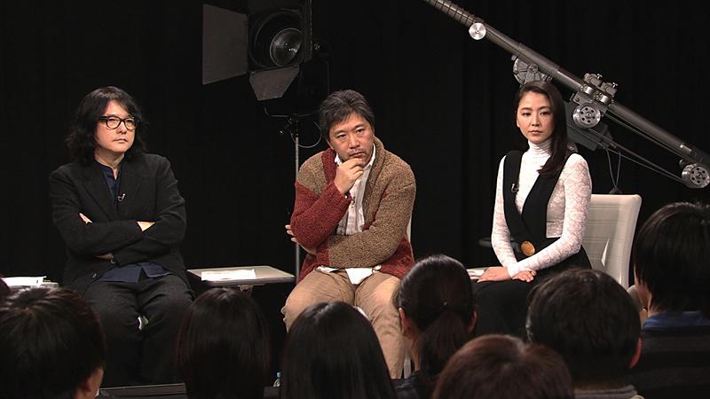 左から岩井俊二、是枝裕和、長澤まさみ 『岩井俊二のMOVIEラボ シーズン2』第3回、第4回より